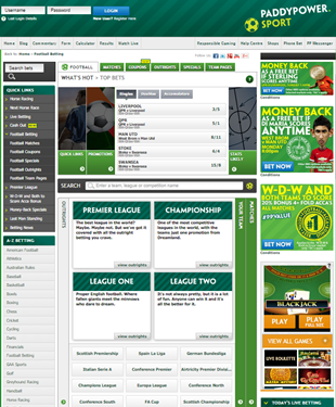 Paddy Power online bookmaker