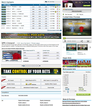 William Hill online sports betting site