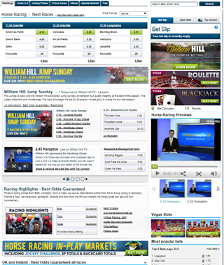 William Hill online bookmaker